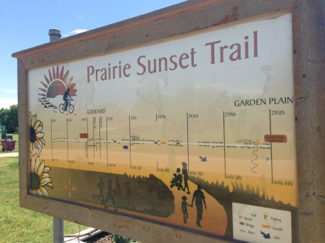 Prairie Sunset Trail Map - Goddard, KS Trailhead.