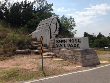 Roman Nose State Park Entrance