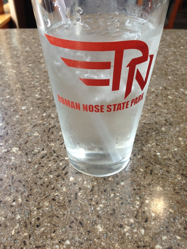 Roman Nose State Park Restaurant Glass